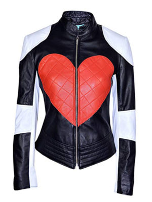 Kylie Minogue Red Heart Leather Jacket