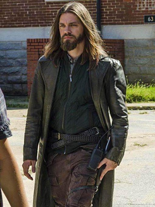 The Walking Dead Paul Rovia Jesus Leather Coat