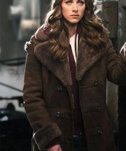 Murphy Perry Mattfeld In The Dark Leather Coat
