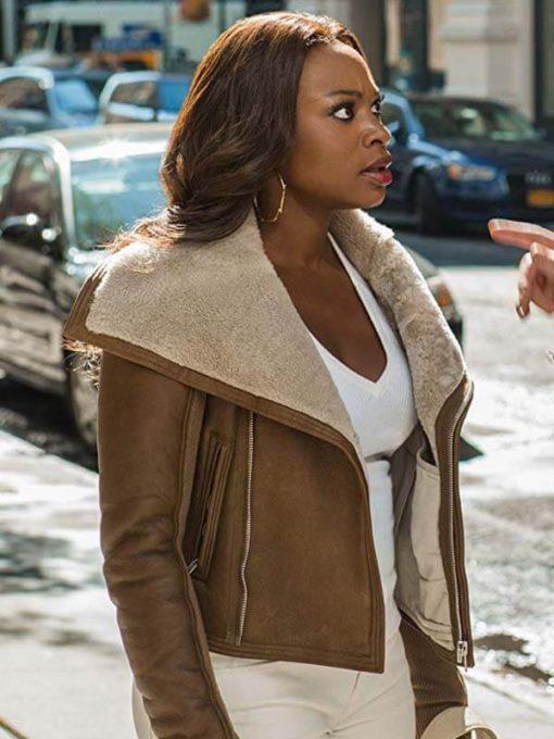 Naturi Naughton Power Series Brown Leather Jacket