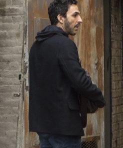 The Blacklist Amir Arison Black Wool Jacket