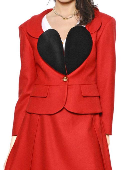 Vivienne Heart Lapel Shape Blazer
