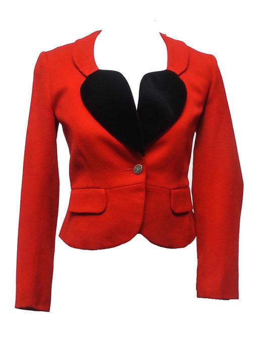 Vivienne Black Heart Shape Blazer