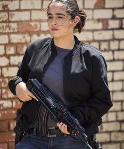 Alanna Masterson The Walking Dead Bomber Jacket