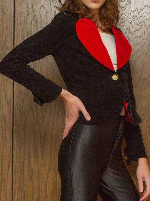 Womens Black and Red Blazer