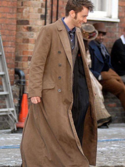 David Tennant 10th Doctor Who Brown Wool Coat