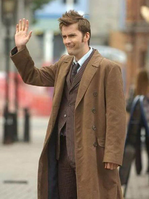 10th Doctor Who Brown Coat