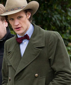 11th Doctor Who Green Wool Coat for Mens