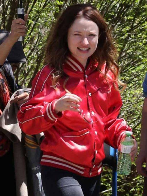 Emily Browning Varsity Jacket