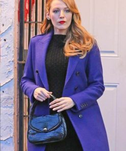 Blake Lively The Age of Adaline Blue Coat