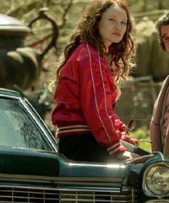 Actress Emily Jane Browning Varsity Jacket