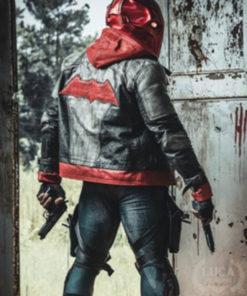 Arkham Knight Jason Todd Leather Hooded Jacket