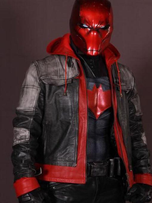 Arkham Knight Leather Hooded Jacket