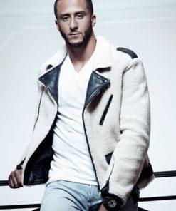 Colin Kaepernick Wool Leather Jacket
