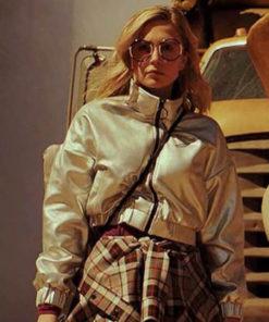 Sam Dean Daybreak Sophie Simnett Shiny Varsity Jacket