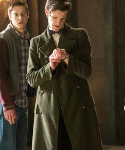 11th Doctor Who Matt Smith Long Green Coat