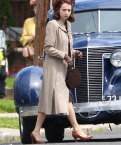 The Plot Against America Zoe Kazan Trench Wool Coat