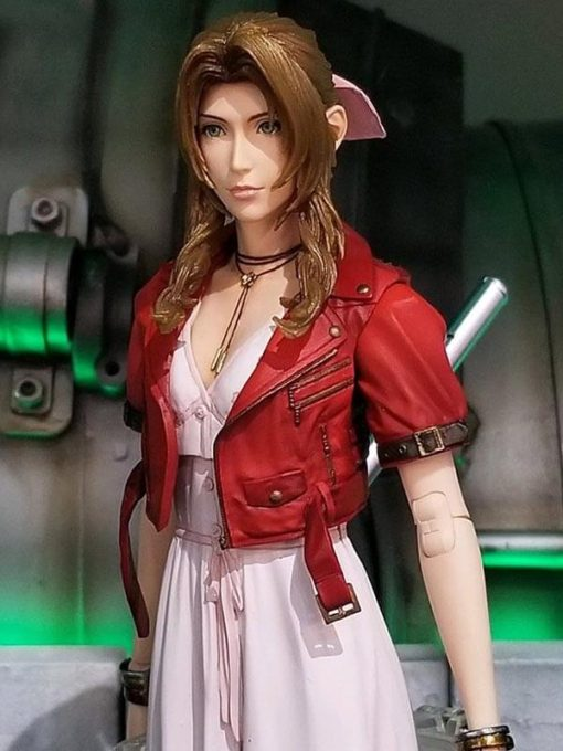 Final Fantasy 7 Remake Aerith Gainsborough Red Leather Jacket
