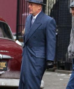 MOTHERLESS BROOKLYN Bruce Willis Wool Coat