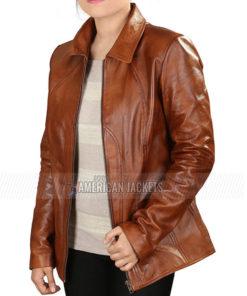 Ricki Gigli Jennifer Lopez Brown Jacket