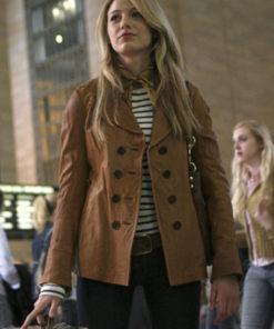 Serena van der Woodsen Gossip Girl Brown Jacket
