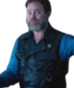 Rainn Wilson Star Trek Discovery Black Leather Vest