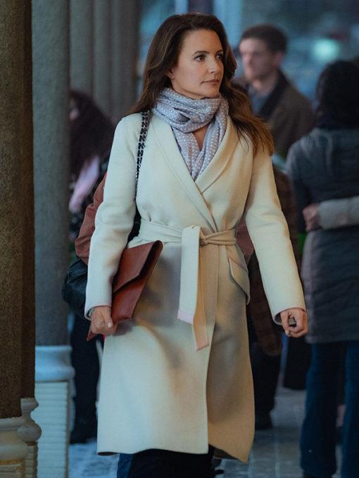 Kristin Davis Holiday In The Wild Kate Wool Coat