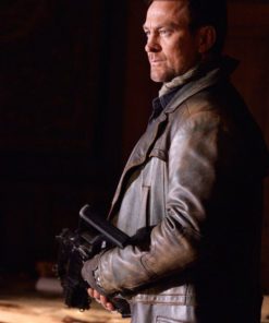Joshua Nolan Defiance Series Distressed Leather Coat