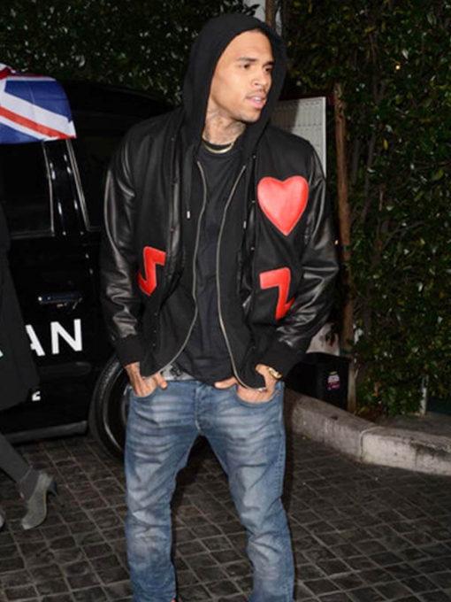 Chris Brown Valentine Special Black Jacket