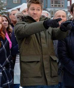 Chad Michael Murray Love in Winterland Green Cotton Jacket