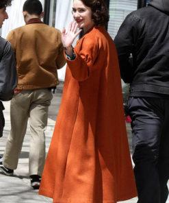 Rachel Brosnahan The Marvelous Mrs.Maisel Wool Trench Coat