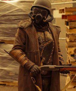 Daybreak Matthew Broderick Distressed Leather Coat