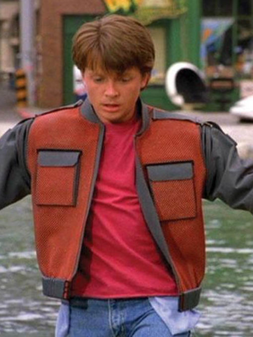 2015 Back To The Future II Marty Mcfly Leather Jacket