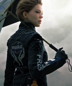 Lea Seydoux Death Stranding Black Leather Jacket