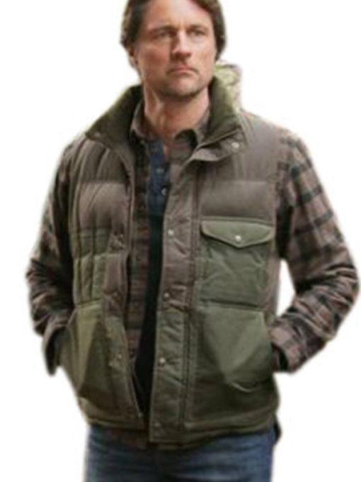 Jack Sheridan Virgin River Green Polyester Vest