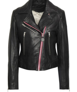 Women Funky Asymmetrical Black Jacket