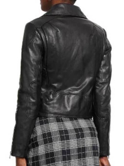 Women Funky Asymmetrical Biker Jacket