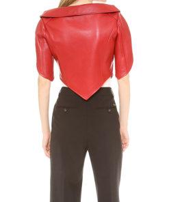 Women Heart Shaped Leather Jacket