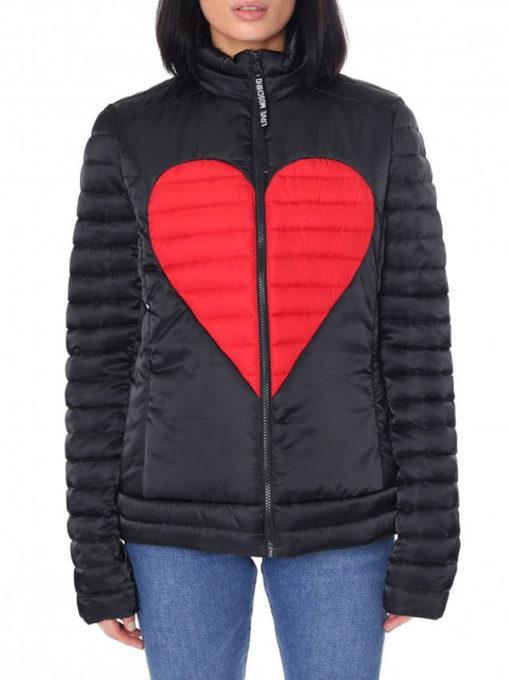 Women Heart Padded Jacket