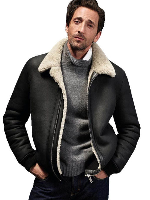 Adrien Brody Shearling Leather Jacket