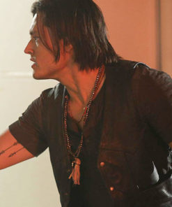 Tv Series The Gifted Blair Redford Black Leather Vest