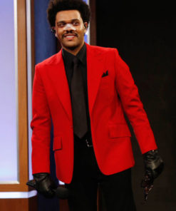The Weeknd Blinding Lights Red Blazer Suit