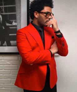 Blinding Lights Album The Weeknd Red Blazer Suit