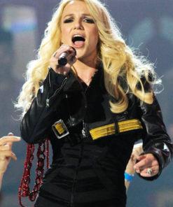 Britney Spears Short Leather Jacket
