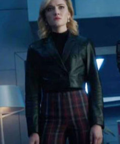 Tv Series The Gifted Skyler Samuels Cropped Black Leather Jacket