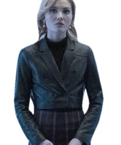 Esme Frost The Gifted Phoebe Frost Short Body Black Leather Jacket
