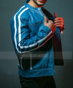 FF9 Fatherhood Vin Diesel Blue Leather Jacket