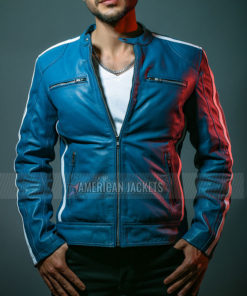Fast and Furious 9 Vin Diesel Blue Leather Jacket