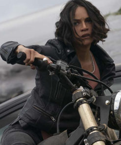 Fast and Furious 9 Michelle Rodriguez Black Leather Jacket