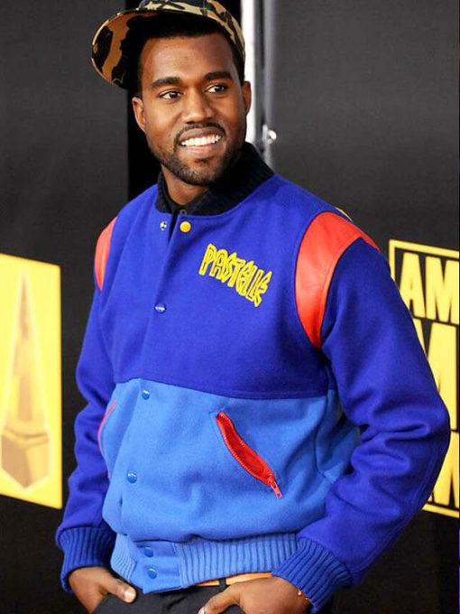 Pastelle Kanye West Blue Varsity Jacket